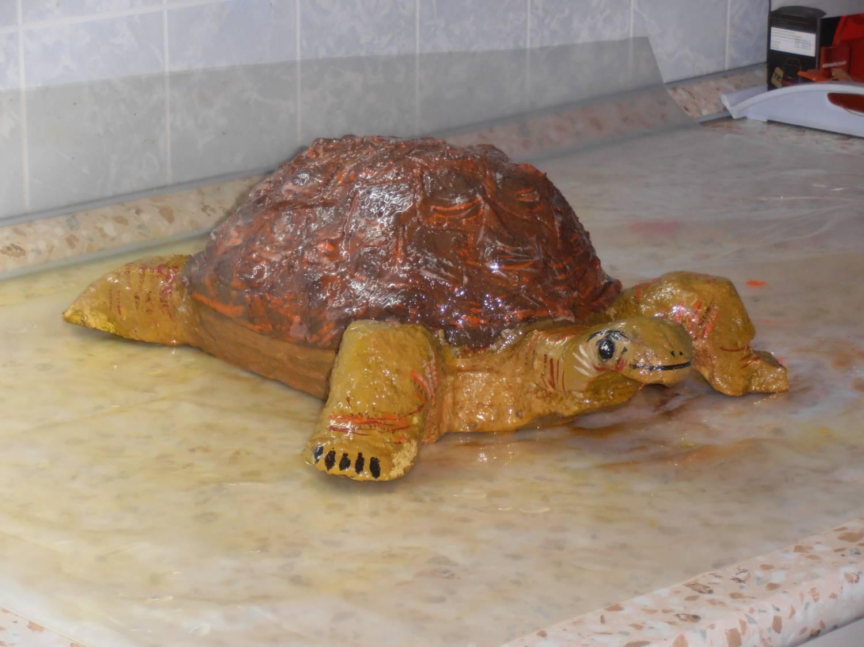 Как сделать черепаху своими руками для сада из цемента 14